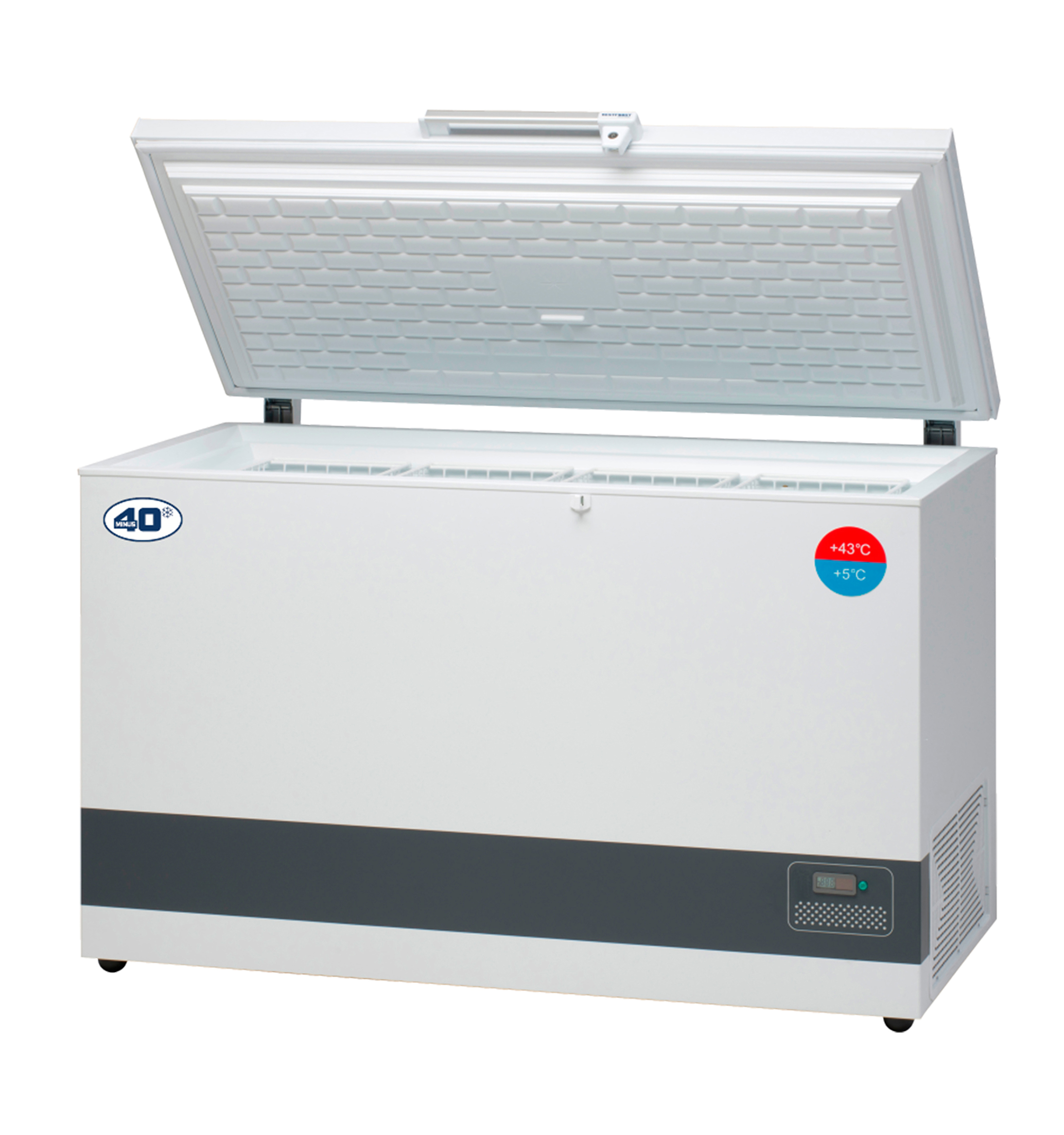 Minus40 Vaccine Refrigerator Vestfrost VLS-350A with logo